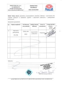 Hamownia-obciazeniowa-MAHA-krakow-ladyga-swiadectwo-certyfikat-kalibracji-łg-auto-serwis
